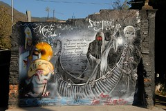 Day of the Dead Wall Mexico (Ilhuicamina) Tags: art mexico paintings murals mexican oaxaca diadelosmuertos skeletons vistahermosa