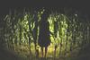 Wrong Time, Wrong Place (CoolMcFlash) Tags: woman green halloween field silhouette night digital canon dark hair person photography eos weird cornfield mood alone fotografie dress nacht zombie fear flash feld sigma atmosphere wideangle fisheye spooky barefoot horror grün frau blitz angst metz dunkel stimmung gettyimages 52 af1 haare kornfeld 10mm weitwinkel kleid umris unheimlich alleine extern fischauge kontur mecablitz 60d externer barfus
