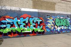 Jee and Cope over ? over Cope (LoisInWonderland) Tags: nyc graffiti bronx jee cope throwup bronxgraffiti