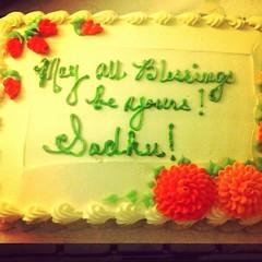 Mitra Cake! Portsmouth Buddhist Center, NH. #urbanretreat