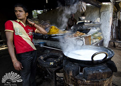 Halwai (Blinkofanaye) Tags: street india cooking festival milk steam desi sweets pushkar gali ajmer 2013 halwai