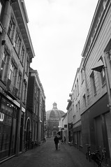 Go to church (becat72) Tags: street blackwhite arnhem koepelkerk