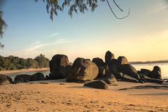 t_3 (Franz-Rudolph) Tags: morning light shadow sea beach strand thailand licht sand rocks asia asien meer stones south east steine merlin morgen schatten hdr khao lak felsen sdost franzrudolph