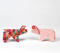 Origami création - Didier Boursin - Cochon