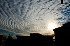 La follia ... (stefano.torella) Tags: sky sun nature tramonto nuvole case madness cielo azzurro bianco nubi sundey