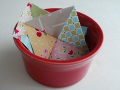 FiestaQuarterSq04Fav (eamylove) Tags: sewing bowl fabric quilting dishes fiestaware bakesale sewalong loriholt quiltyfun