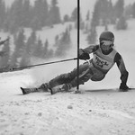 Ryan Moffat (Big White) in action at Teck Enquist Slalom PHOTO CREDIT: Derek Trussler
