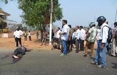 Accident at Bambolim (joegoaukextra3) Tags: station goa electricity sus dept bambolim joegoauk accdient