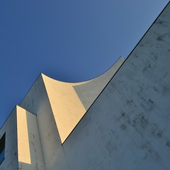 the spontaneous never falls from the sky (TheManWhoPlantedTrees) Tags: blue sky white church azul architecture céu quadrado sizavieira bsquare álvarosizavieira arquitecturaportuguesa quadratum nikond3100 tmwpt imaginetheevidence