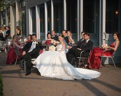 Bridal Party taking a break