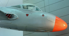 DH Vampire:  National Museum of Ireland, Dublin, September 2013 (jst @ Tanfield) Tags: jet trainer warbird militaryaviation dehavilland nationalmuseumofireland irishaircorps 1950saviation preservedmilitaryaviation {vision}:{clouds}=0715 {vision}:{sky}=0746 {vision}:{outdoor}=0708