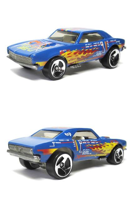 blue 3 chevrolet camaro hotwheels 164 diecastcar 67camaro