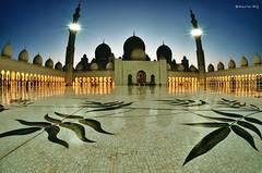 Sheikh Zayed Mosque (Naufal MQ) Tags: art architecture night tile muslim islam prayer religion pray uae mosque arabic zayed abudhabi arab marble sheikh masjid islamic