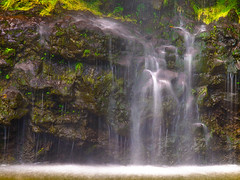 Tranquil (FromHereOnIn.com) Tags: vacation green nature water beautiful rock landscape flow photography hawaii waterfall moss zoom scenic tranquility maui haleakala hana slowshutter tropical cascade bambooforest haleakalanationalpark fromhereonin christopherjohnson pipiwai