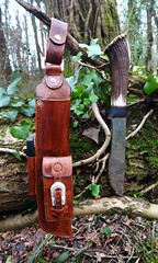new leuku sheath (fishfish_01) Tags: leather knife leatherwork sheath sheat leuku