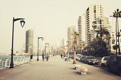 La Corniche | Beirut, Lebanon, March 2014 (Sebastien BERTRAND) Tags: city lebanon canon buildings seaside corniche streetphoto beirut ville beyrouth liban photoderue eos40d canon40d seasidepromenade fotomato sebfotomato sébastienbertrand sebastienbertrand