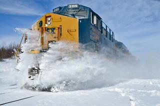 Sending the snow flying