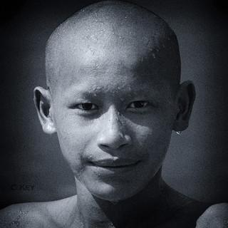 Portrait of a young monk (Laos)