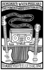 Remember When (Masonic Boom / Karen D. Tregaskin) Tags: music illustration sketch bass guitar box drawing vinyl boom cassettes