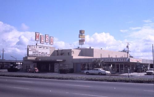 Mesa Theater, Newport Blvd, Costa Mesa, 1974 by Orange County Archives