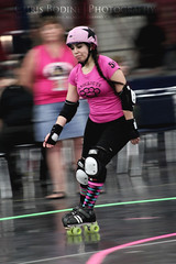 Roller Girl (the Halfwitboy) Tags: pink woman hot girl female pig roller braids derby skates tails quads canoneos7d