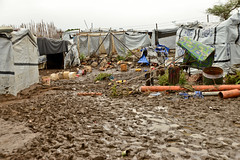 The aftermath of heavy rains on UN House PoC IDP camp. (tommcshanephotography) Tags: africa travel war southsudan refugees un unitednations conflict wtn dinka unhouse juba rivernile neur humanitariancrises tommcshanephotography levwood levisonwood walkthenile