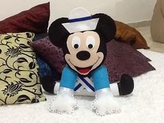 image (Arte Arteira - Feltro) Tags: disney mickey minnie feltro marinheiro centrodemesa