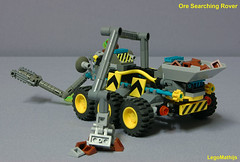 04_Ore_Searching_Rover_backside_view (LegoMathijs) Tags: rock underground energy tipper crystal crane scanner space ground rover mining scifi ore drill raiders miners searching moc ores foitsop flextube febrovery legomathijs