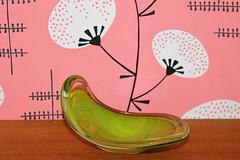 Bowl Flygfors Sweden (Ankar60) Tags: wallpaper green glass vintage design sweden bowl swedish retro 70s sverige 1970 1970s seventies 70 glas tal svensk skl grn askfat tapet svenskt sjuttiotal flygfors glasbrum