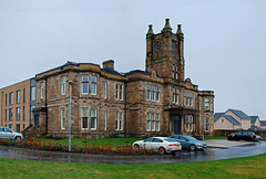 Posh refurbishment (beqi) Tags: panorama history architecture hospital stonework woodilee lenzie photoshoppery 2015