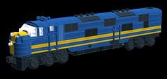 C&EI E7 WIP (wildchicken_13) Tags: chicago illinois lego diesel engine wip locomotive eastern e7 cei moc ldd emd e7a wildchicken13