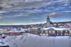 Røros 2015 III (Ana Jones do Carmo) Tags: snow church norway clouds landscape norge røros hdr 3xp