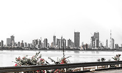 Worli Sea Face (i2n2) Tags: bridge india skyline mumbai seaface sealink bandraworli worlibandra
