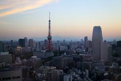 Tokyo Tower (Jelltex) Tags: sunset tower japan tokyo tokyotower mtfuji jelltex jelltecks