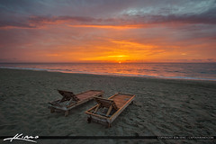 Beach Chairs Florida Sunrise (Captain Kimo) Tags: sunrise chairs florida singerisland beachchair rivierabeach hdrphotography captainkimo lovefl aurorahdr