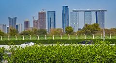 HFF, Dubai (werner boehm *) Tags: fence dubai zaun wolkenkratzer wernerboehm