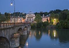 TORINO - Ponte Vittorio Emanuele I (masy.lombardo) Tags: torino tramonto fiume ponte paesaggi panorami allaperto