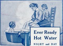 Ever Ready Hot Water Night & Day (sadiron16) Tags: advertising literature gas bathing waterheater heating tradeliterature tradecatalogue