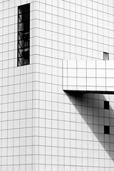 The Rock and Roll Hall of Fame Museum: part 2 (jbarry5) Tags: ohio blackandwhite abstract monochrome geometry cleveland rockandrollhalloffame therockandrollhalloffamemuseum