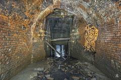 Sluice (AnotherStepAway) Tags: light urban wet water river dark underground darkness exploring deep tunnel drain explore tunnels exploration culvert ue drainage urbex draining