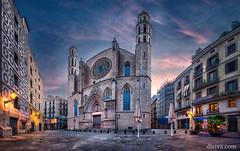 Iglesia de Santa Mara del Mar, Barcelona (dleiva) Tags: barcelona santa city espaa architecture del square de mar town spain arquitectura maria gothic iglesia catalonia domingo catalua gotico leiva dleiva
