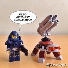 #LEGO_Galaxy_Patrol #LEGO #HeavyArtillery #Turtle #Mech #TurtleMech @lego_group @lego @bricksetofficial @bricknetwork @brickcentral (@OscarWRG) Tags: lego turtle mech heavyartillery legogalaxypatrol turtlemech