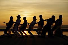 Are you enjoying? (HAMA-ANNEX) Tags: sunset portrait silhouette k1  hdpentaxdfa70200mmf28eddcaw