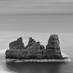 Copper Coast Stack (Aldo Selvi) Tags: longexposure ireland bw seascape mono stack le waterford seastack coppercoast