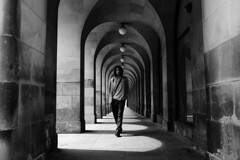 The Archway-Manchester. (Keith Vaughton) Tags: light blackandwhite monochrome manchester arch fuji shadows streetphotography x100t keithvaughton