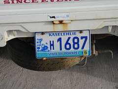 Licence plate, Pohnpei.