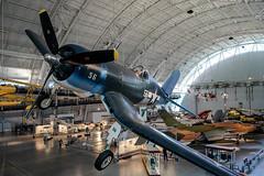 F-4U Corsair (pbradyinct) Tags: museum airplane virginia smithsonian aircraft corsair f4 airandspacemuseum udvarhazycenter