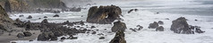 Rocky Beach (Xynalia) Tags: ocean california ca beach nature water fog landscape outdoors 1 bay rocks waves marin panoramic naturalbridge route marincounty oceanscape