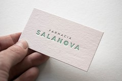 Farmacia Salanova (El Calotipo) Tags: logo design identity businesscards printing letterpress diseo logotype tarjetas identidad