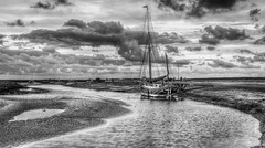 Moored - 3 (+Pattycake+) Tags: sky bw water clouds landscape evening norfolk peaceful coastal northsea eastanglia eastcoast blakeney evenig moored efs1022mm morston northnorfolk eos70d